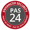 PAS 24 security door logo