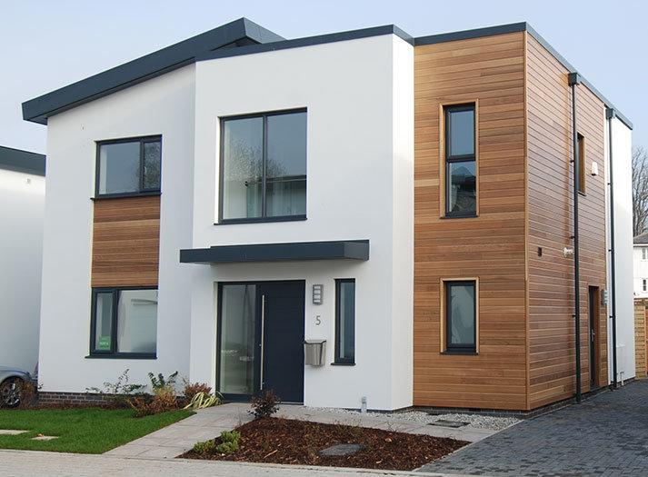 Grey modern front door Heritage Developments SW