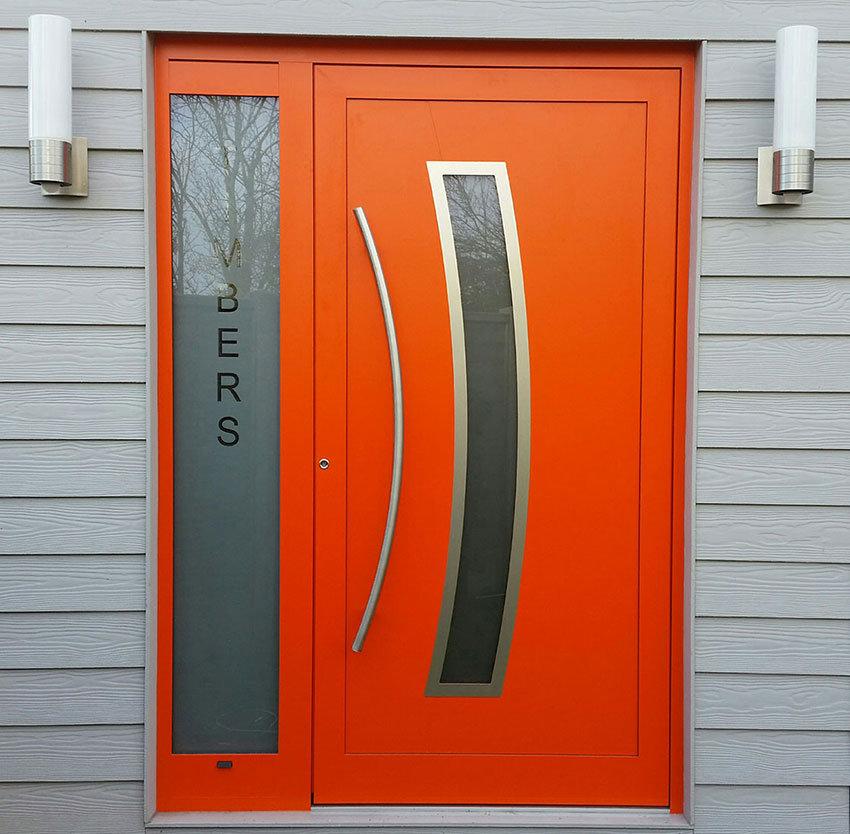 RK250 orange aluminium front door