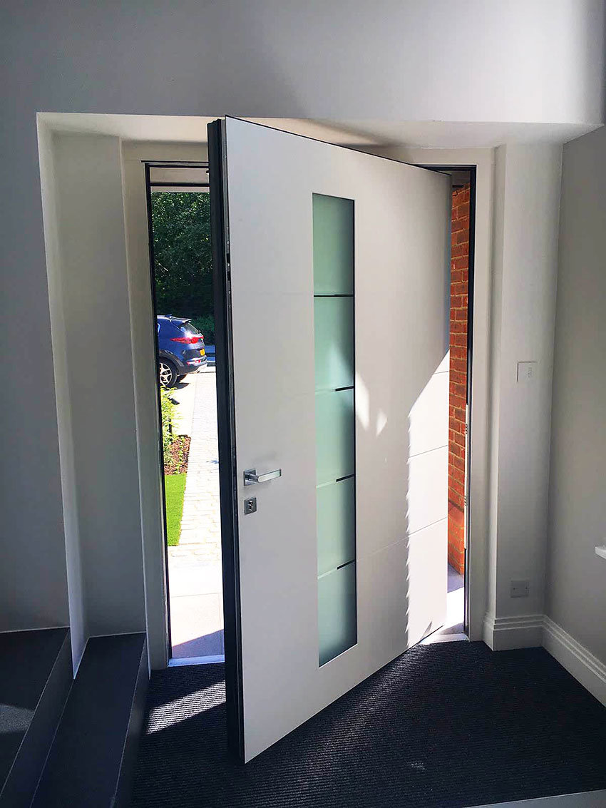 White RK Pivot Door