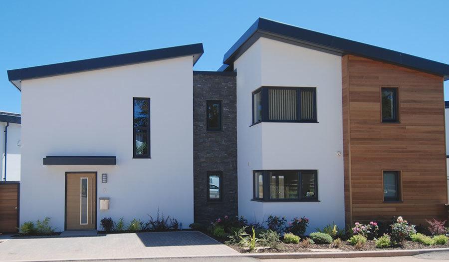 Wood effect front door Heritage Developments SW