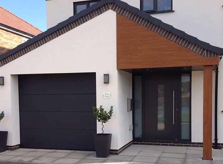 dark grey modern front door