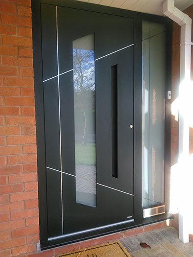 front door recessed handles