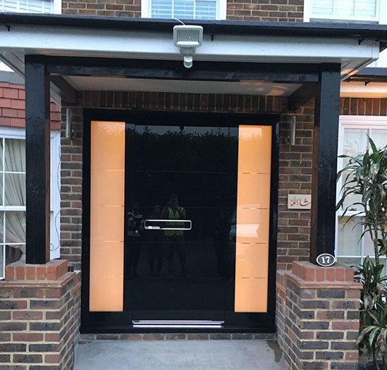 RK Modern glass faced front door