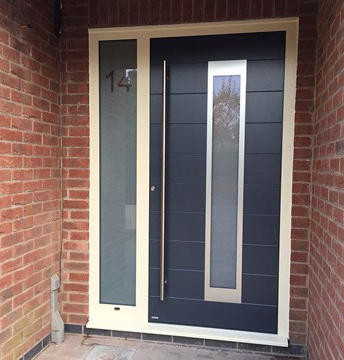 RK Grey Modern front door