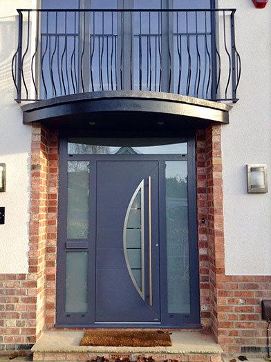 RK Modern front door sidelights