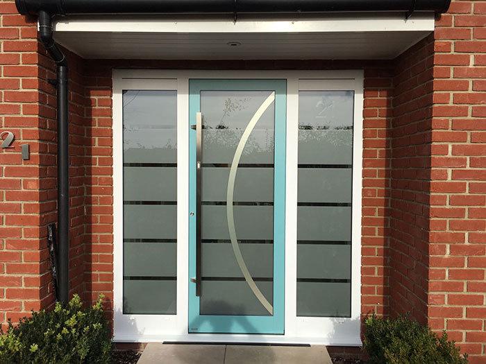 RK Modern front door with sidelights