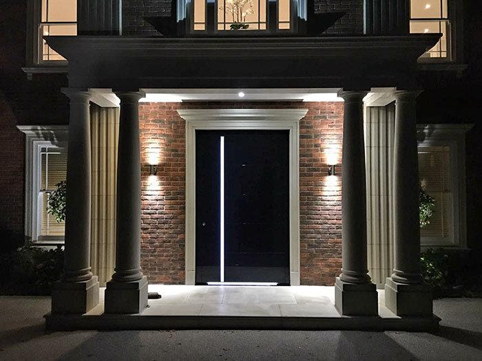 rk modern front doors gloss black