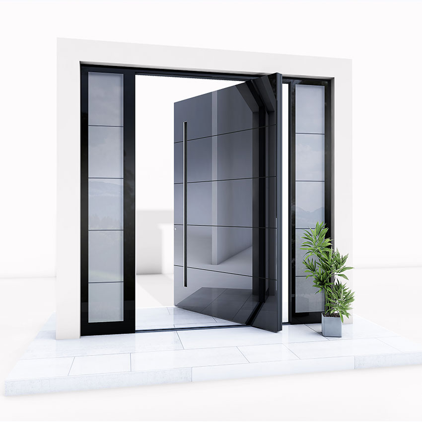 Black gloss Pivot Door
