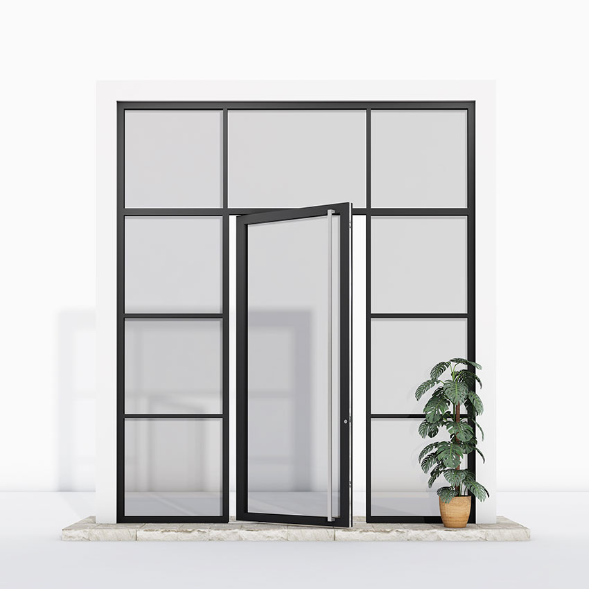 Pivot Door glazed glass