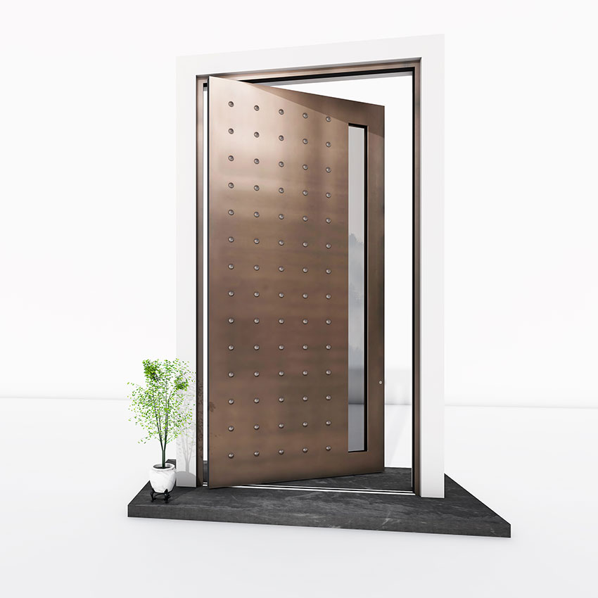 Bronze metallic Pivot Door