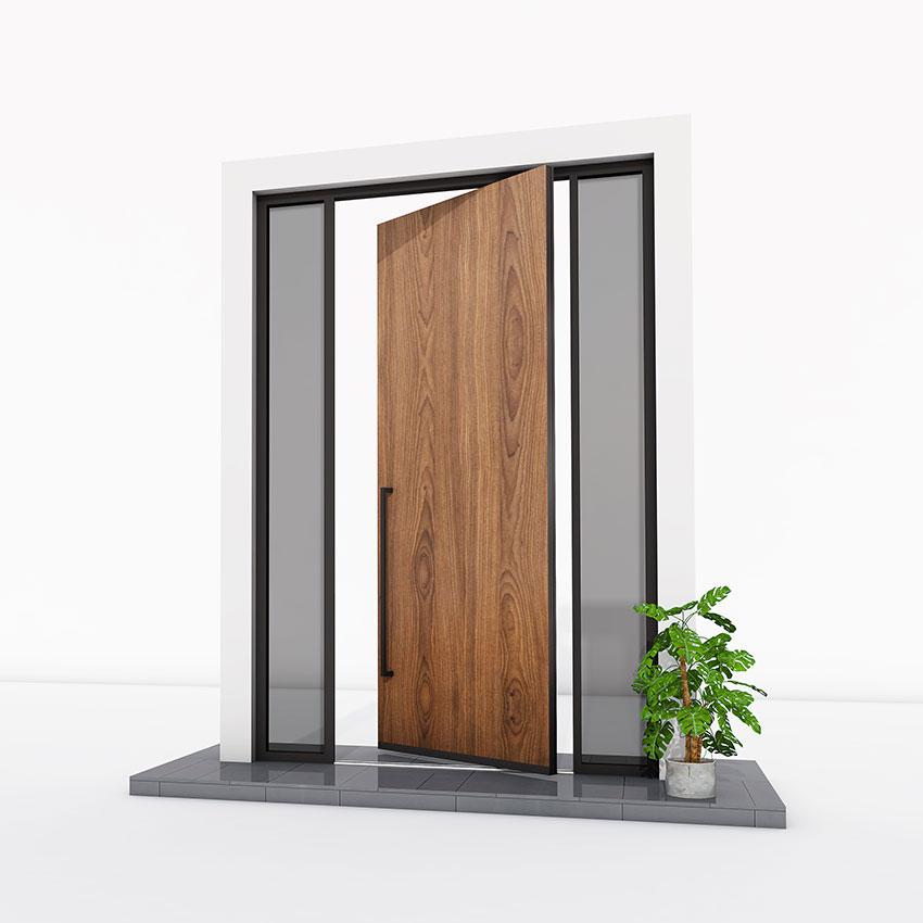 Pivot Door wood effect