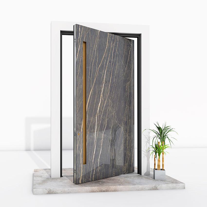 Pivot Door marble effect