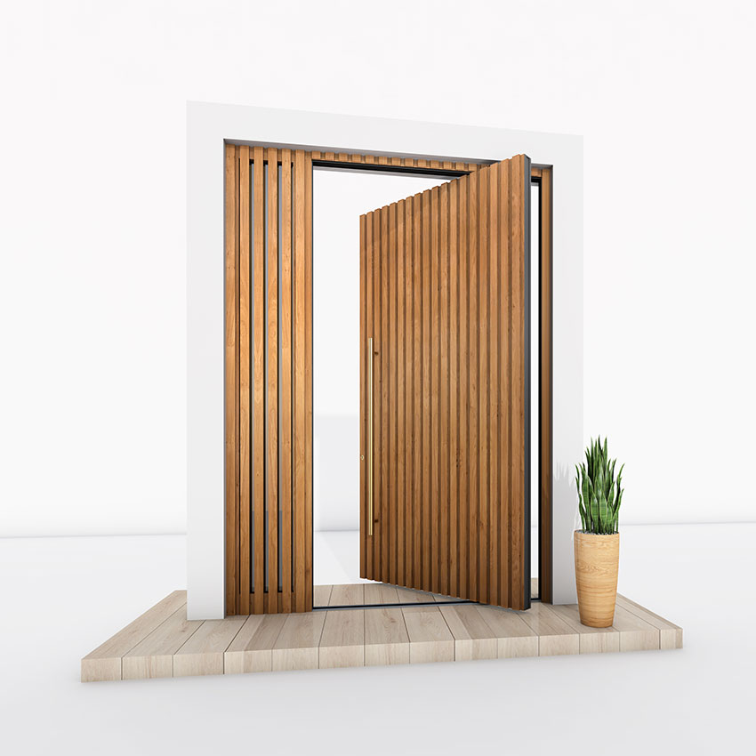 Pivot Door timber effect
