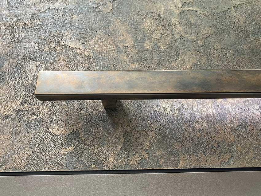 RK Pivot door bronze handle
