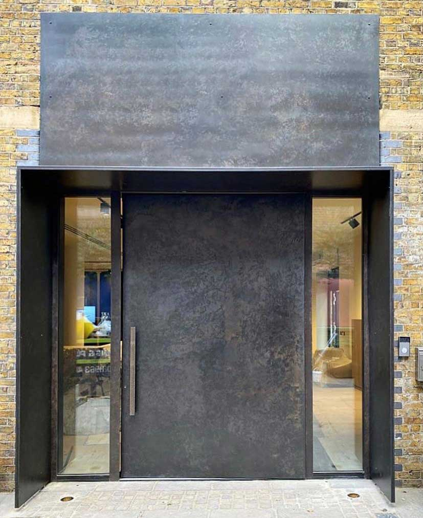 Pivot Door Blackened Bronze